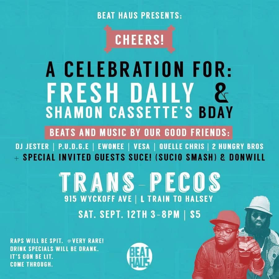 P.U.D.G.E – Live-set (Fresh Daily/Shamon Cassette's Birthday Beat Bash)
