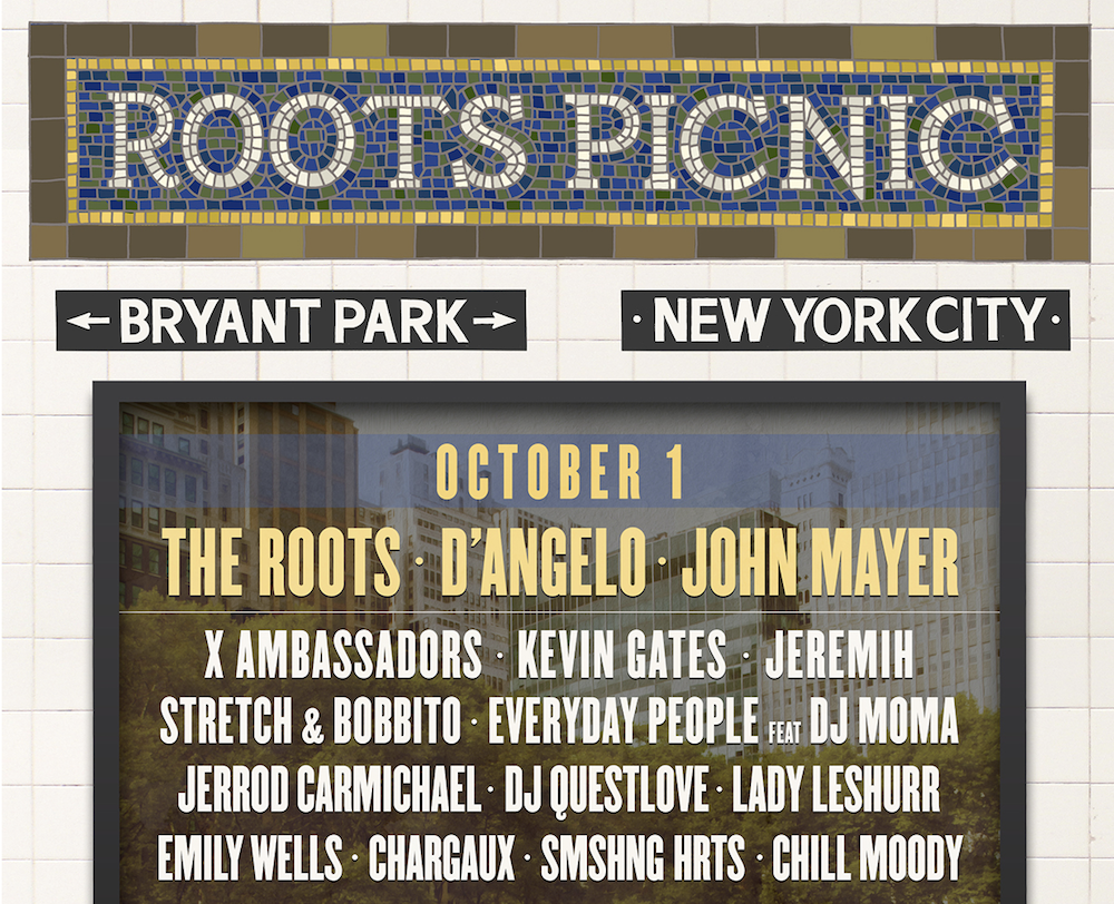 Roots Picnic NYC 2016 – The Roots, Common, John Mayer, & D'Angelo (VIDEO)