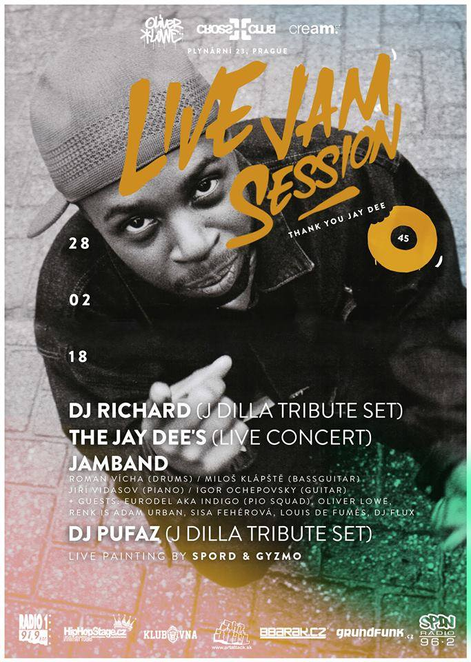 Praha bude oslavovat: Live Jam Session 45 (Thank You Jay Dee)