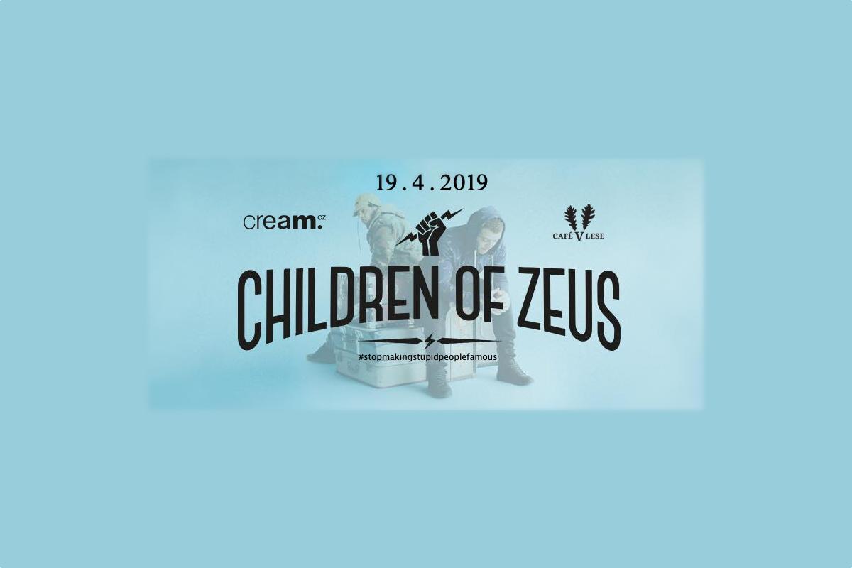 Dárek od Cream.cz: Children Of Zeus v dubnu v Café v Lese